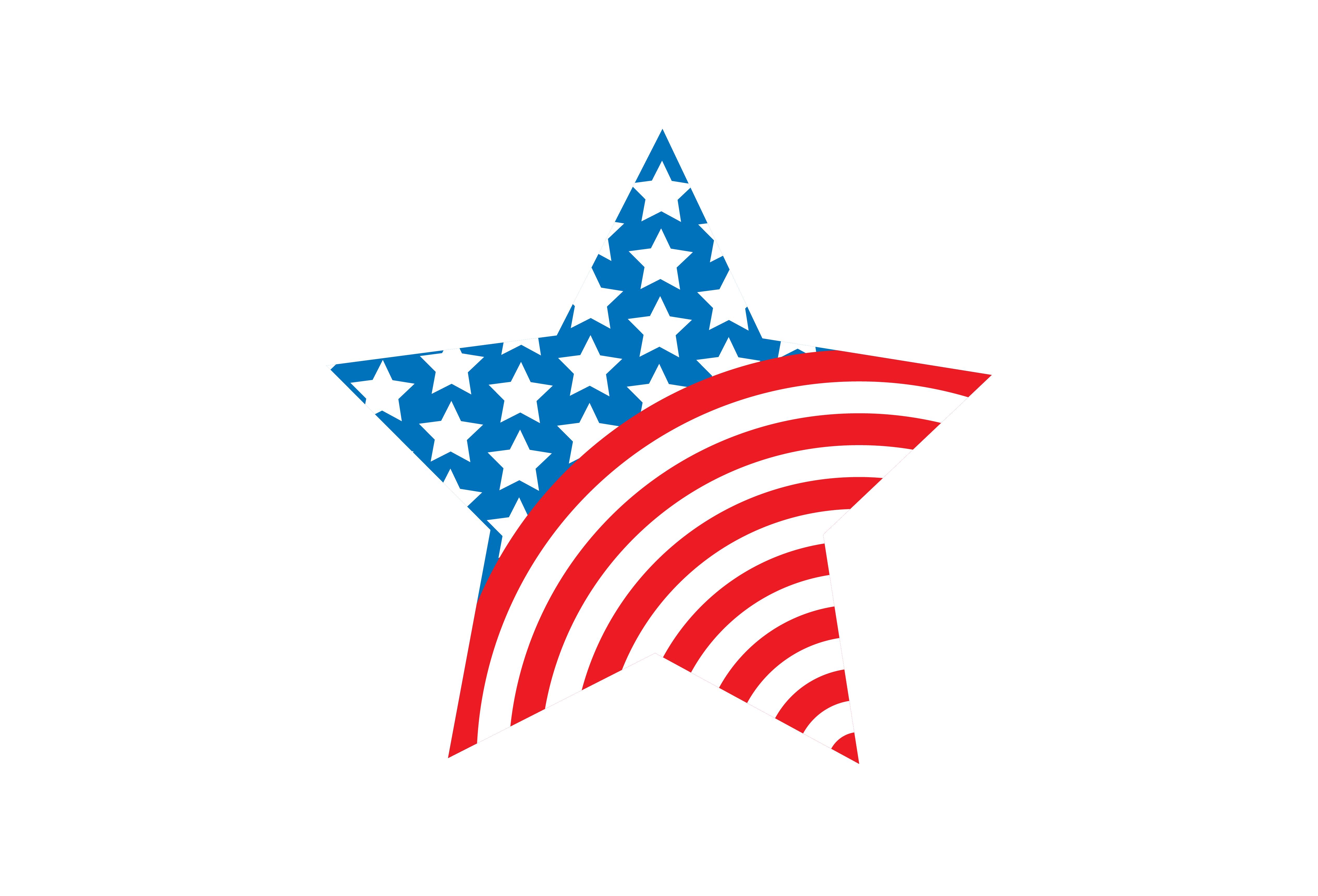 American star short sleeve. Usa clipart grey