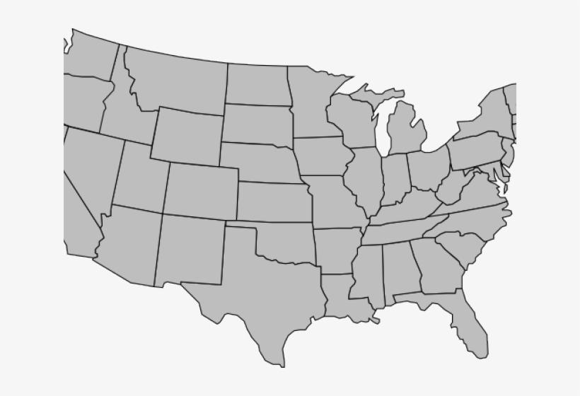 Map of the colorado. Usa clipart grey