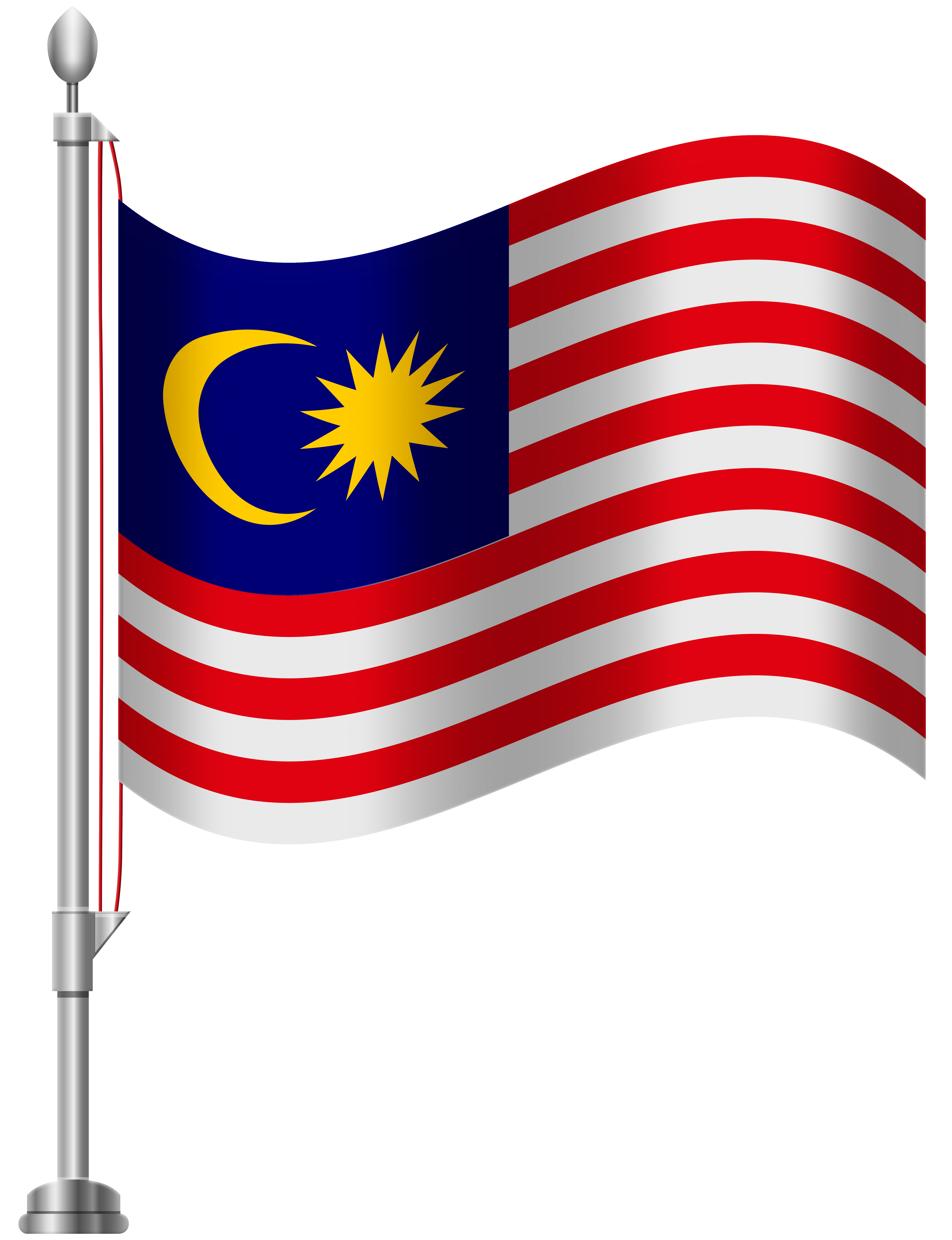 Usa clipart grey. Malaysia flag png clip