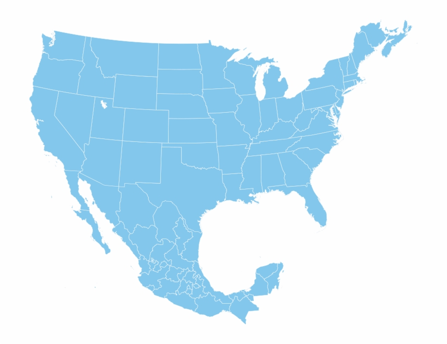Usa clipart map america. North outline and mexico
