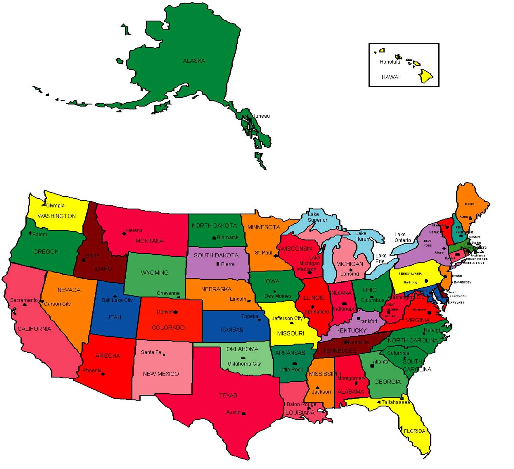 American states capitals us. Usa clipart name capital