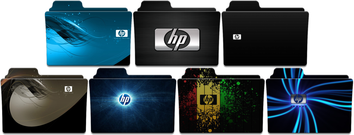 Hp folder pack by. Use png as icon windows 10