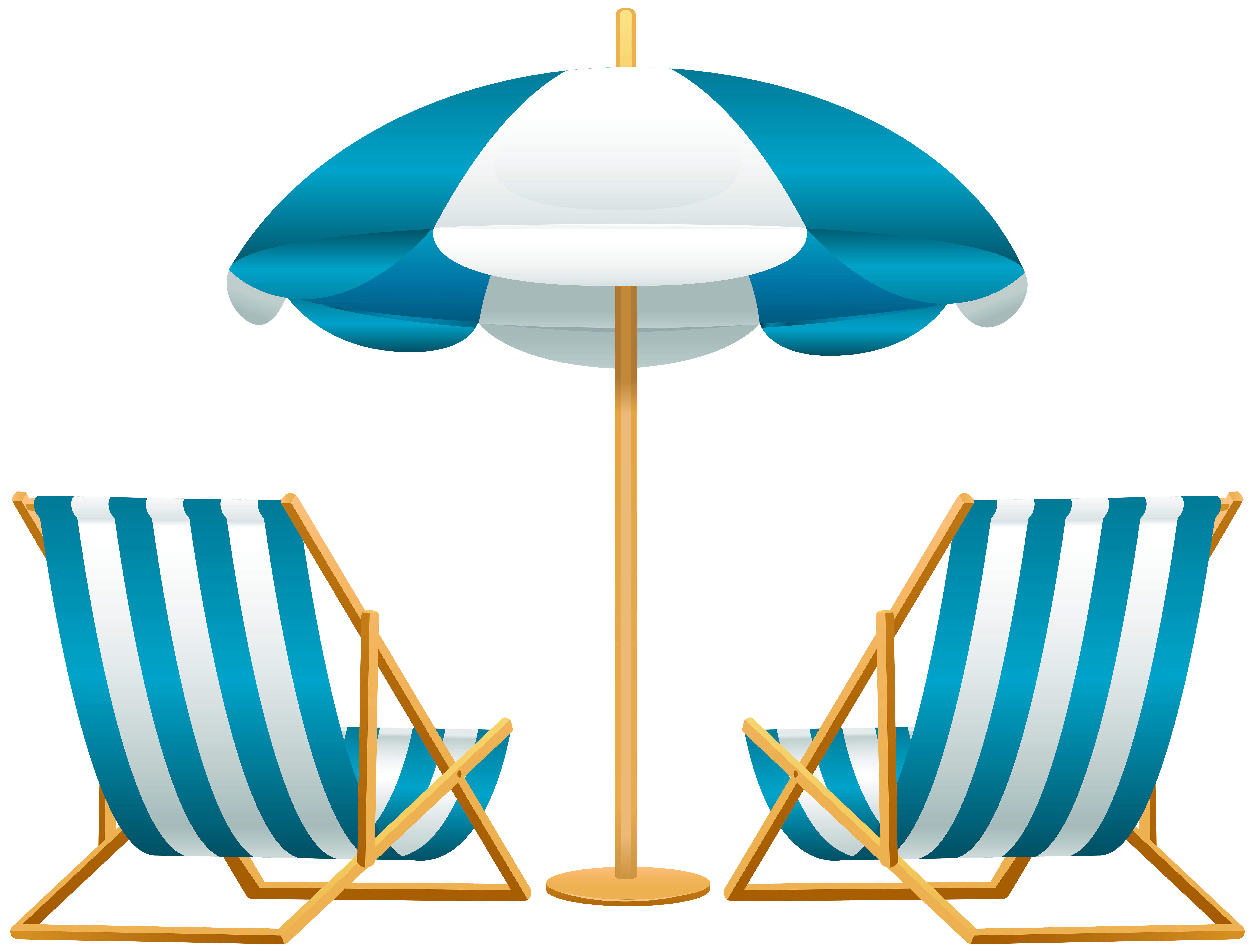 Vacation clipart. Beach umbrella with chairs