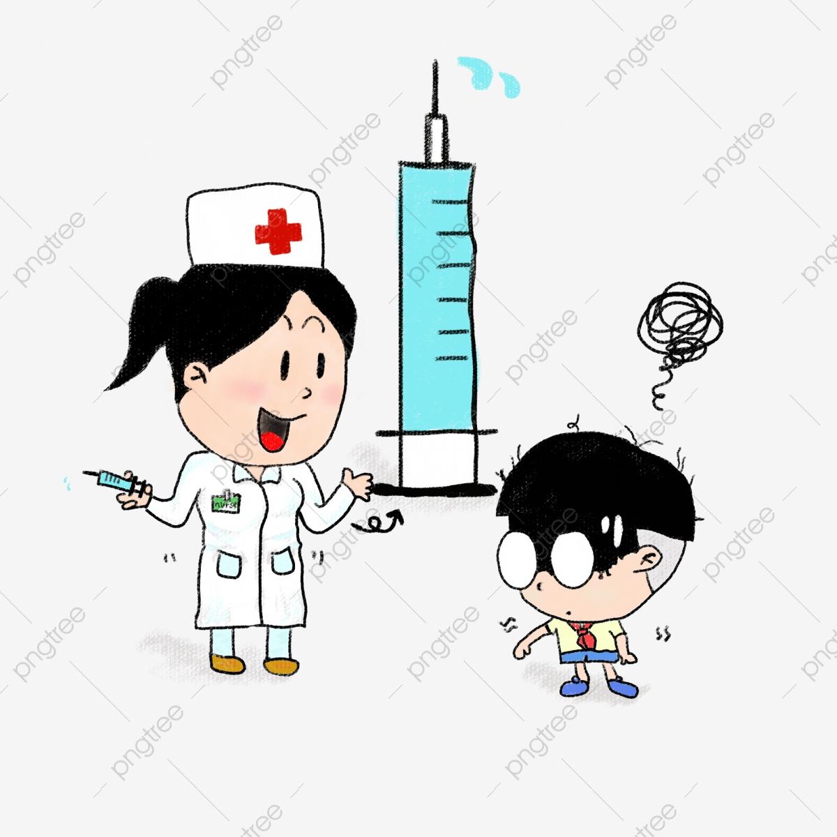 White nurses vaccination publicity. Vaccine clipart nursing graduation