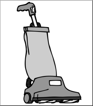 Clip art cleaner grayscale. Vacuum clipart
