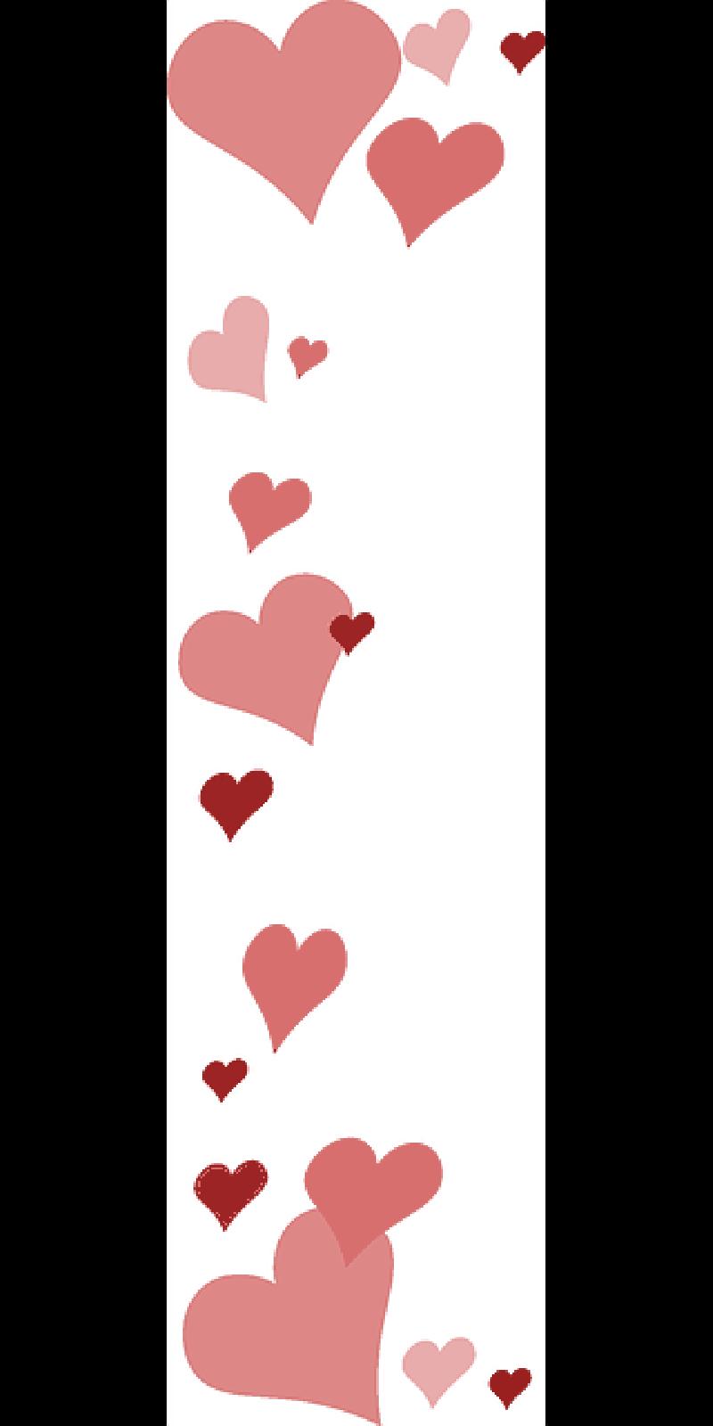 Love pink hearts transparentpng. Valentine border png