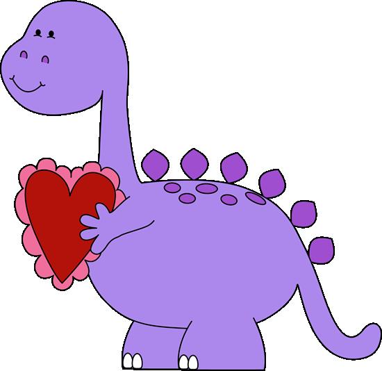 Valentine clipart. S day dinosaur clip