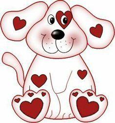 Clip art puppy . Valentine clipart