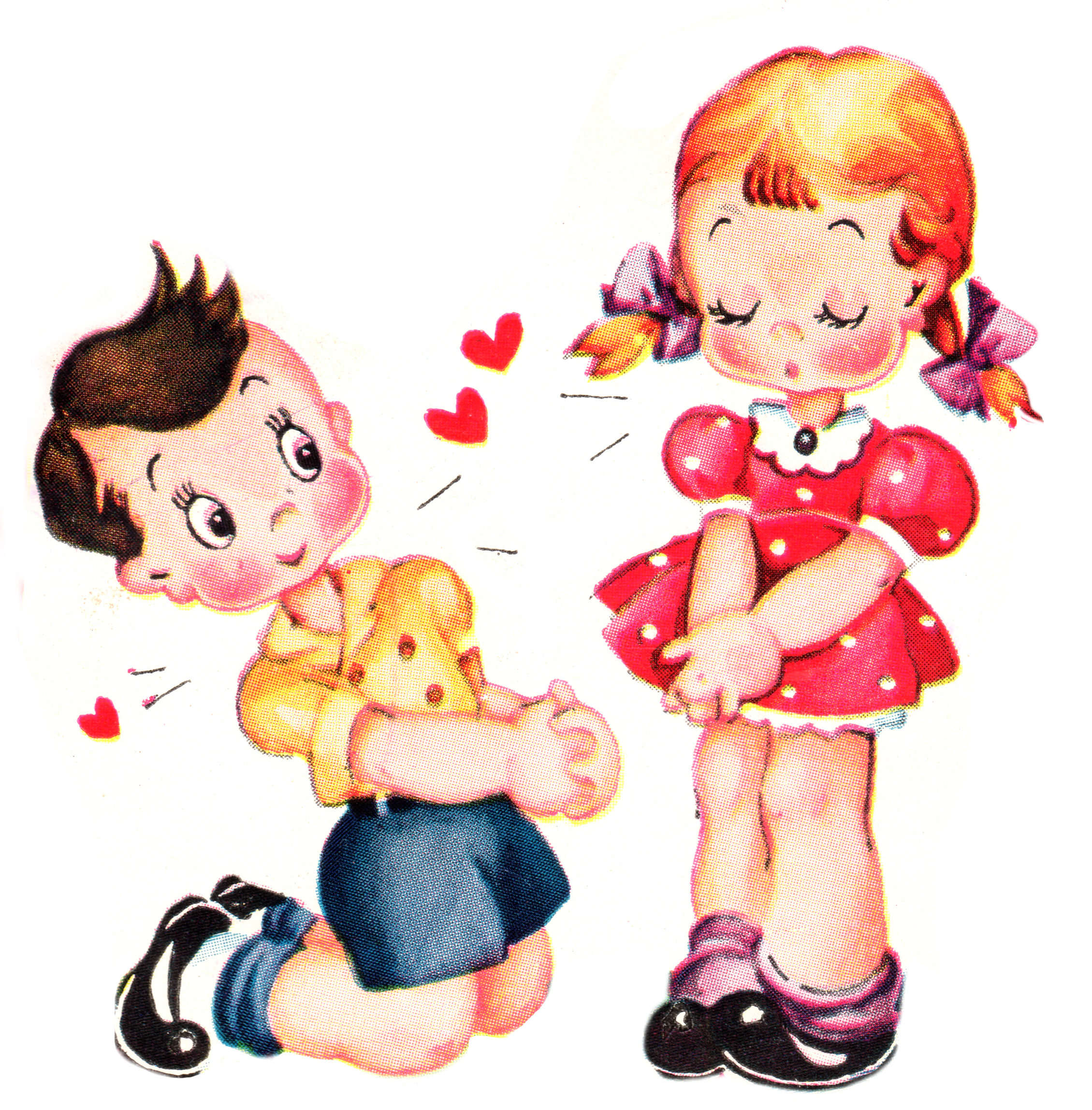 Cute vintage valentines day. Valentine clipart adorable