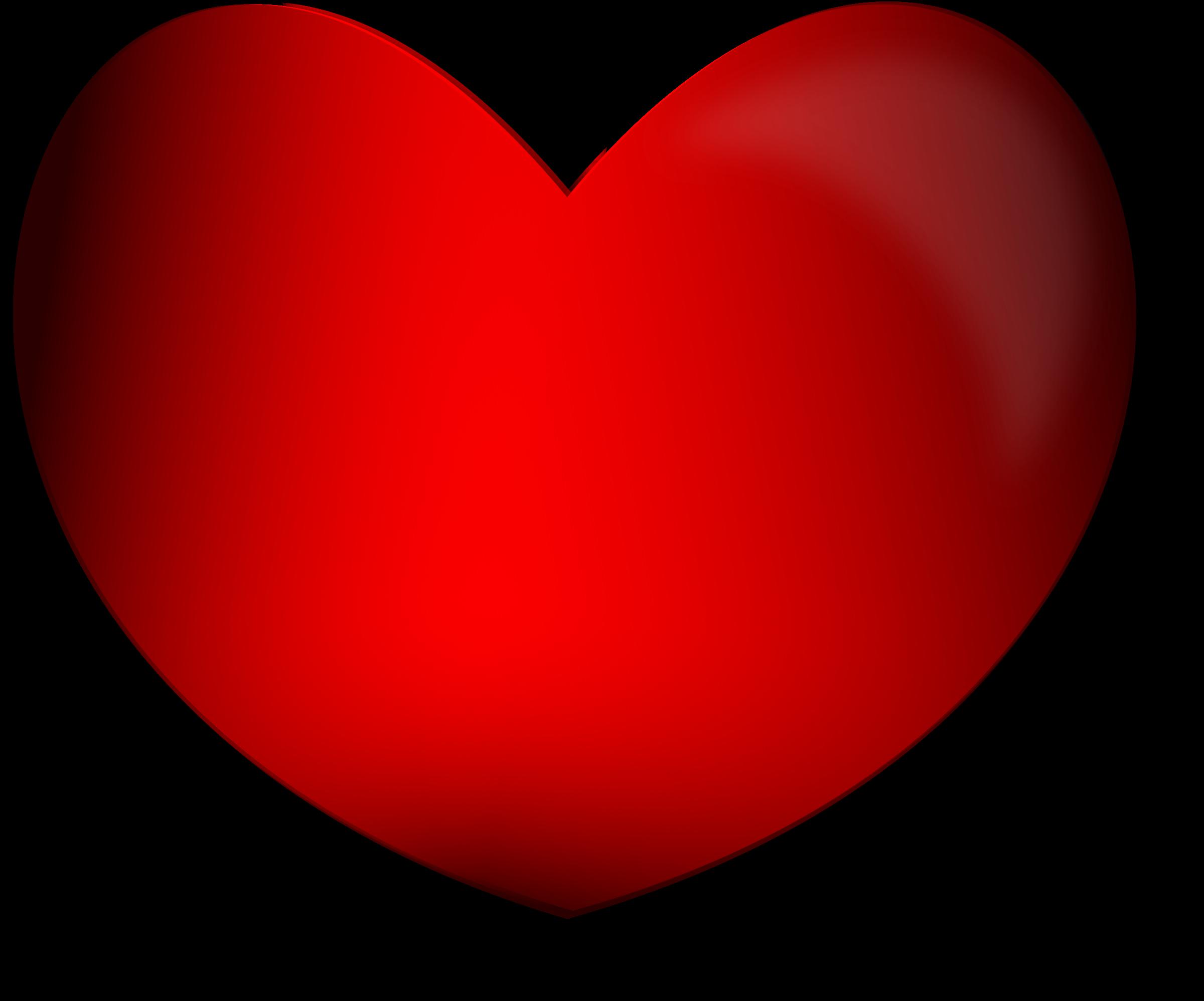Valentine clipart anniversary. Glossy heart big image