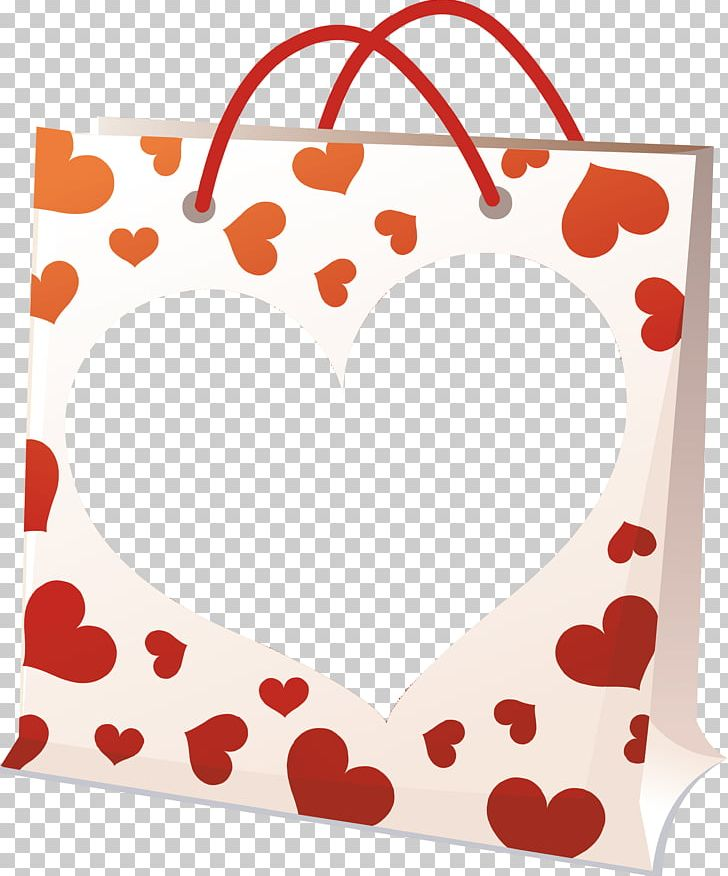 Valentine clipart bag. S day red love