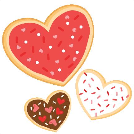 Cookies svg scrapbook cut. Valentine clipart cookie