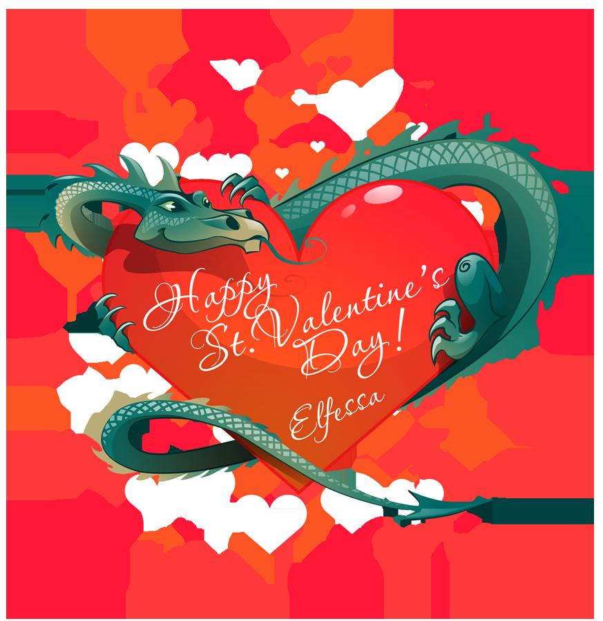 Valentine clipart dragon. By elfessa on deviantart