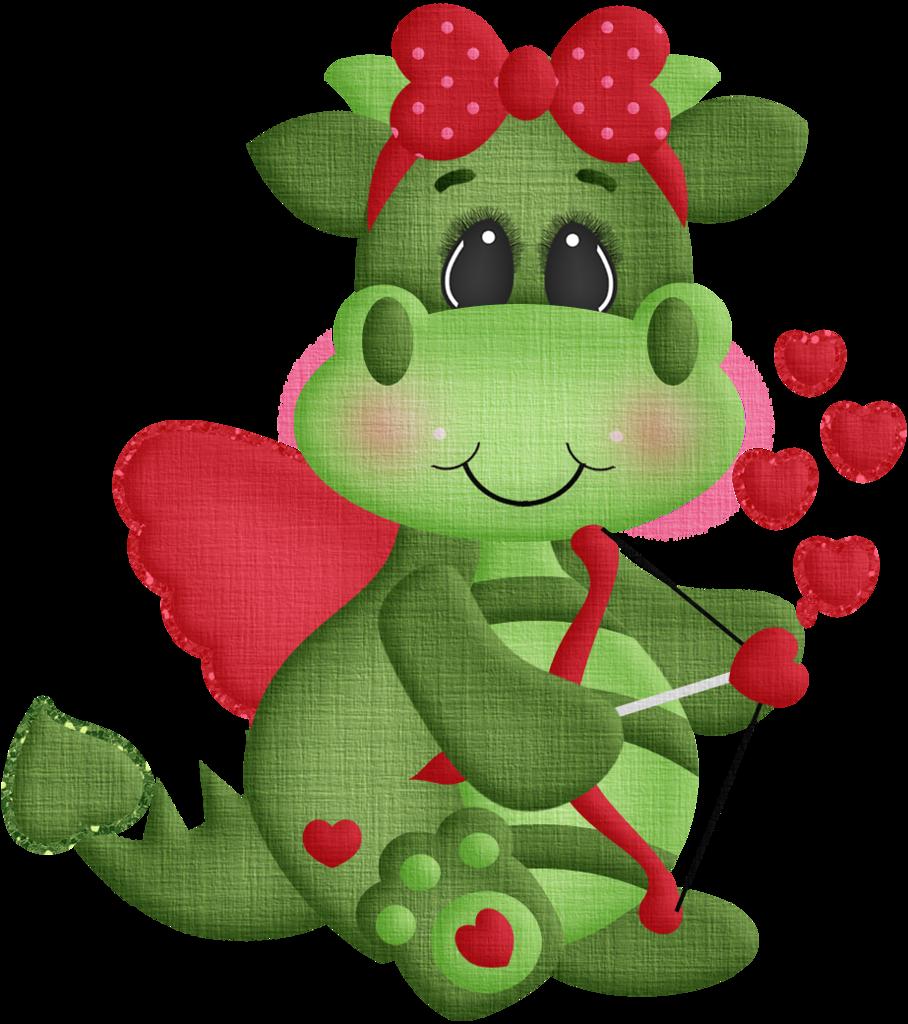 Valentine clipart dragon. Pr hist ria e