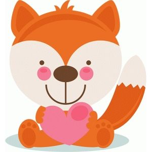 Valentine clipart fox. A variety of toons