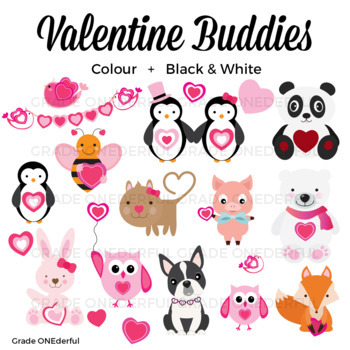 Animals friends s . Valentine clipart friend