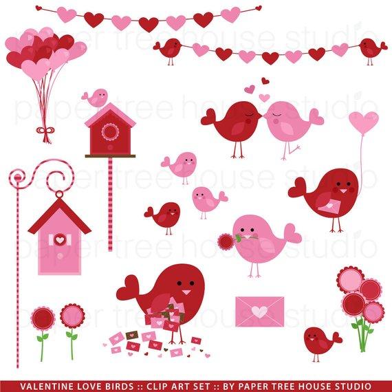 Valentine clipart house. Clip art love birds