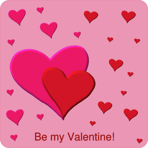 Red and pink clip. Valentine clipart mail