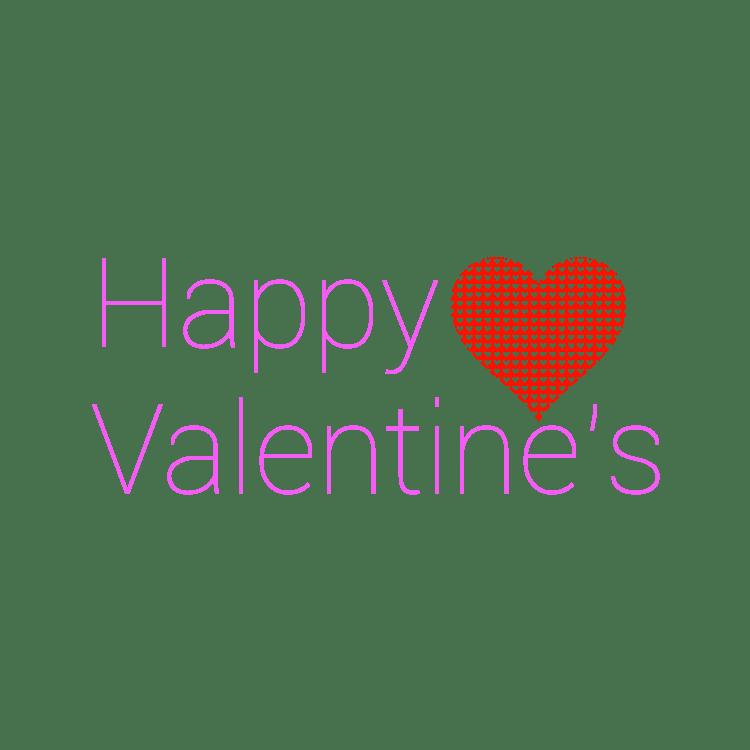 Happy s purple text. Valentine clipart modern