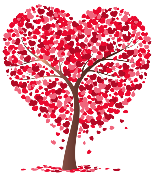 Clipart tree valentines day. Heart transparent png image