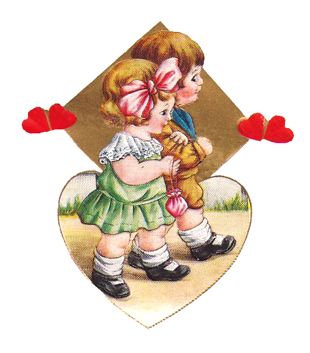 Valentine clipart person. Antique images january this