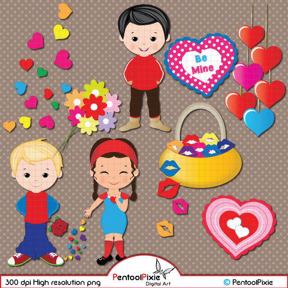 Valentine clipart person. S day love boy