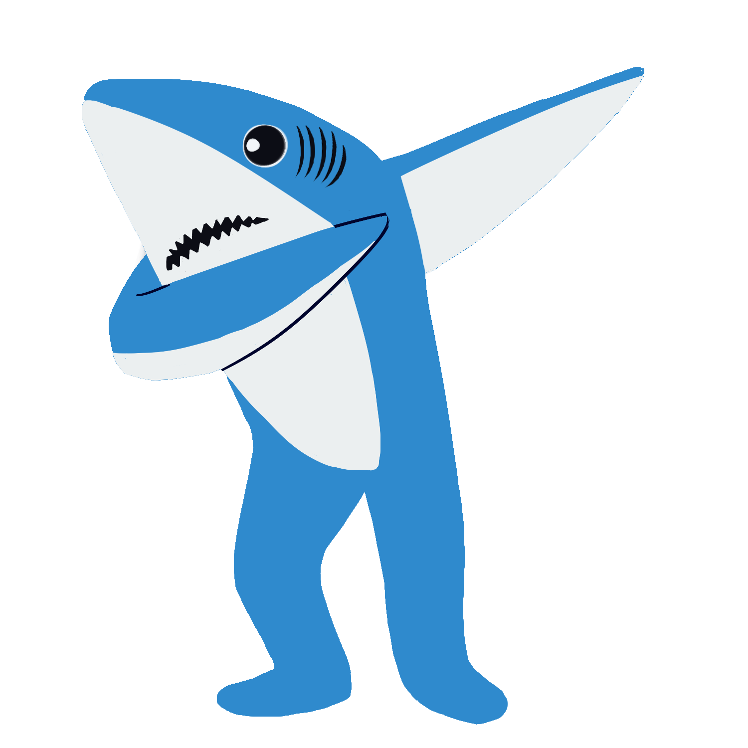Valentine clipart shark. Dab to the left