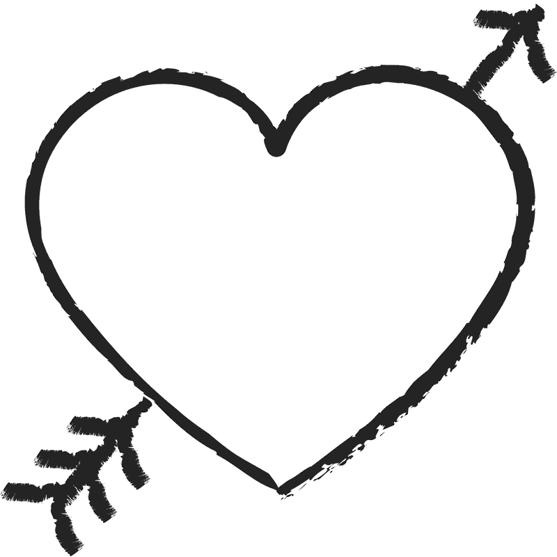 Valentine clipart stamp. Heart with arrow rubber