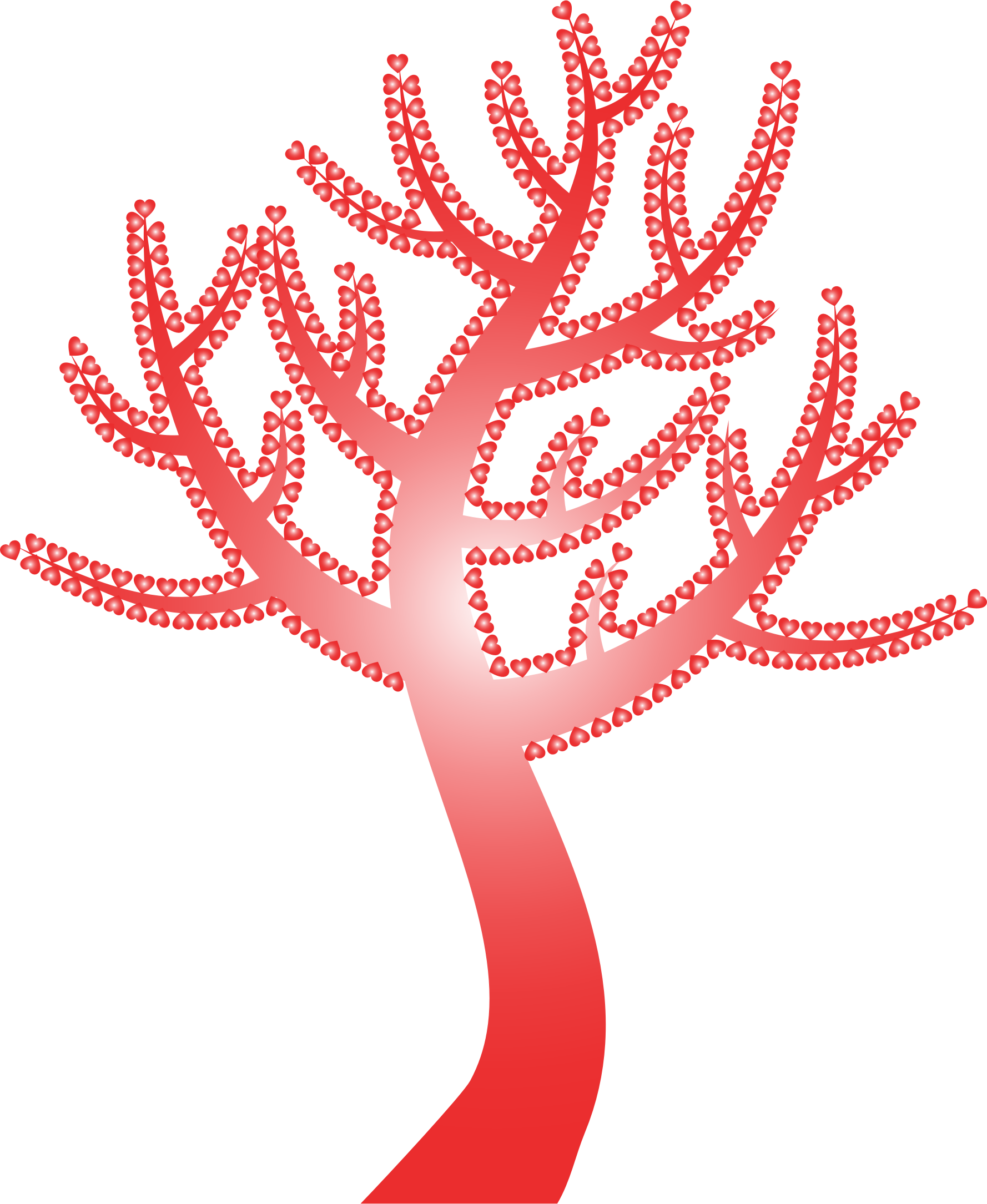 Valentine clipart tree. Colorful hearts no background