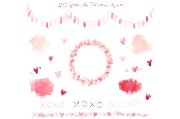 png clip art. Valentine clipart watercolor