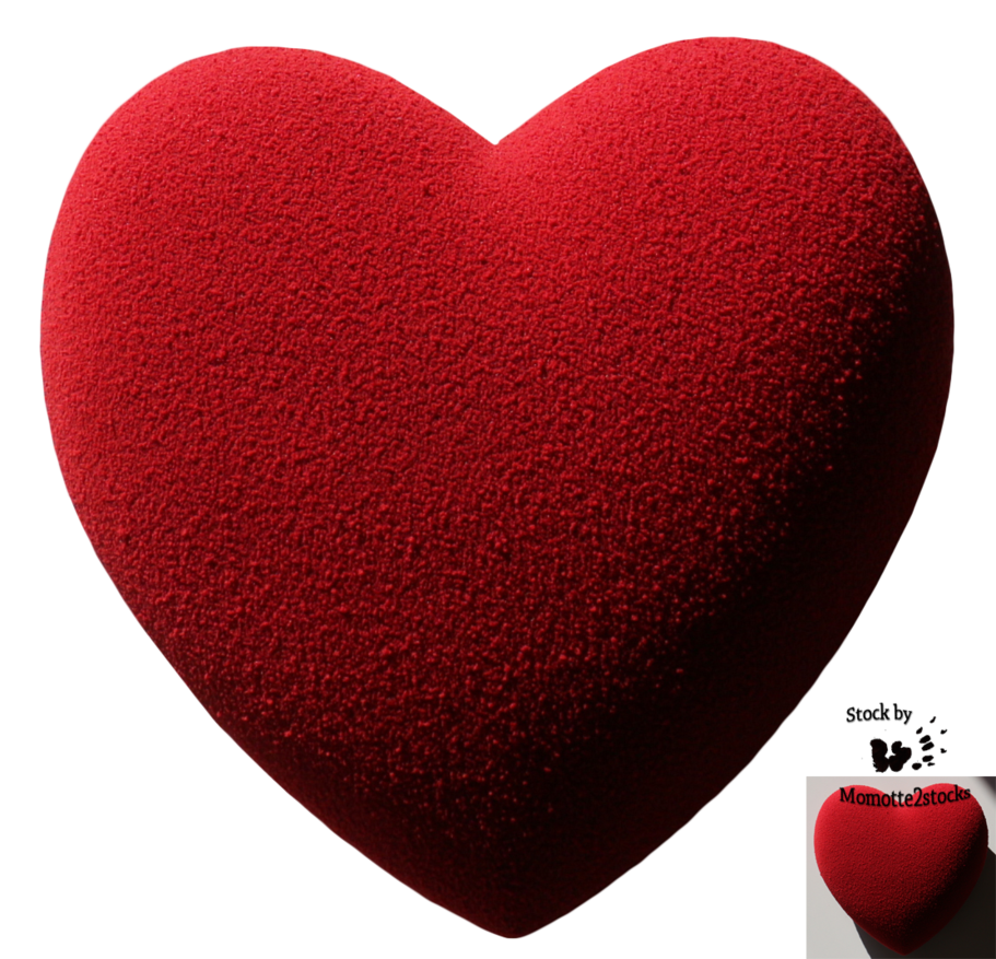 Cut out stock velvet. Valentine hearts png
