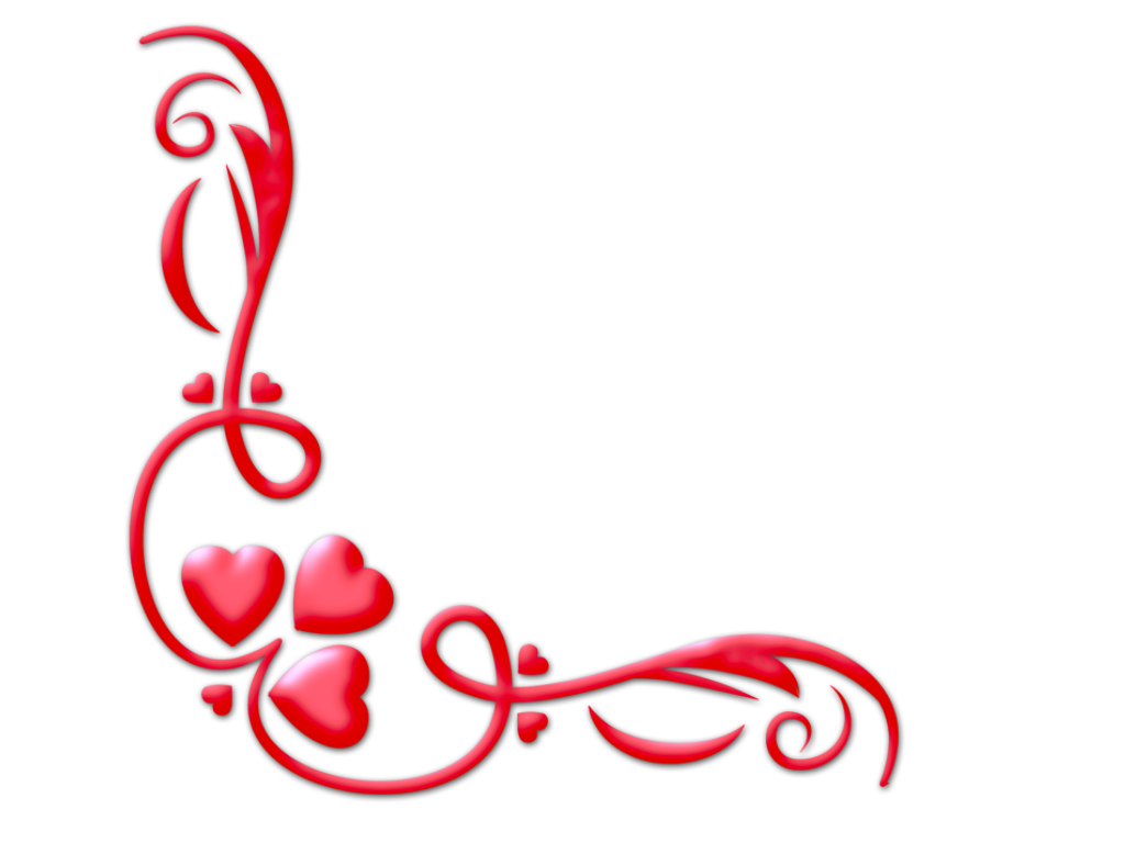 Valentines day border png.  for free download