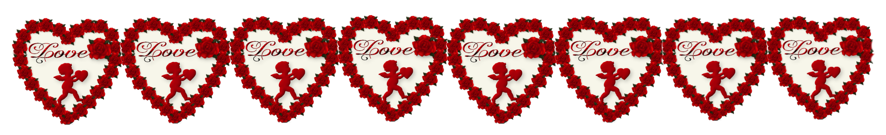 Valentines day border png. Hearts decor picture gallery