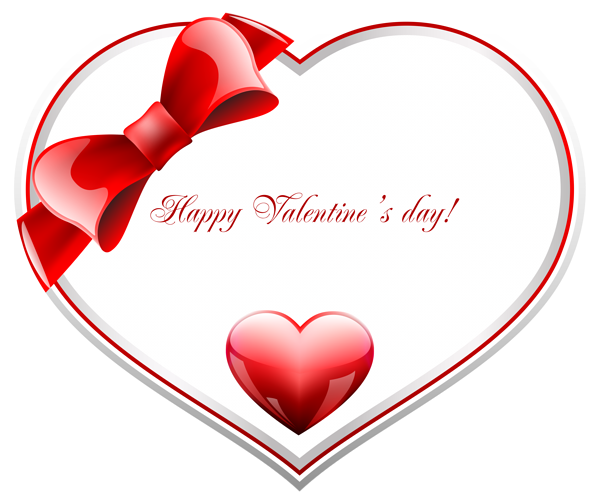 Valentines day hearts png. Red and white happy