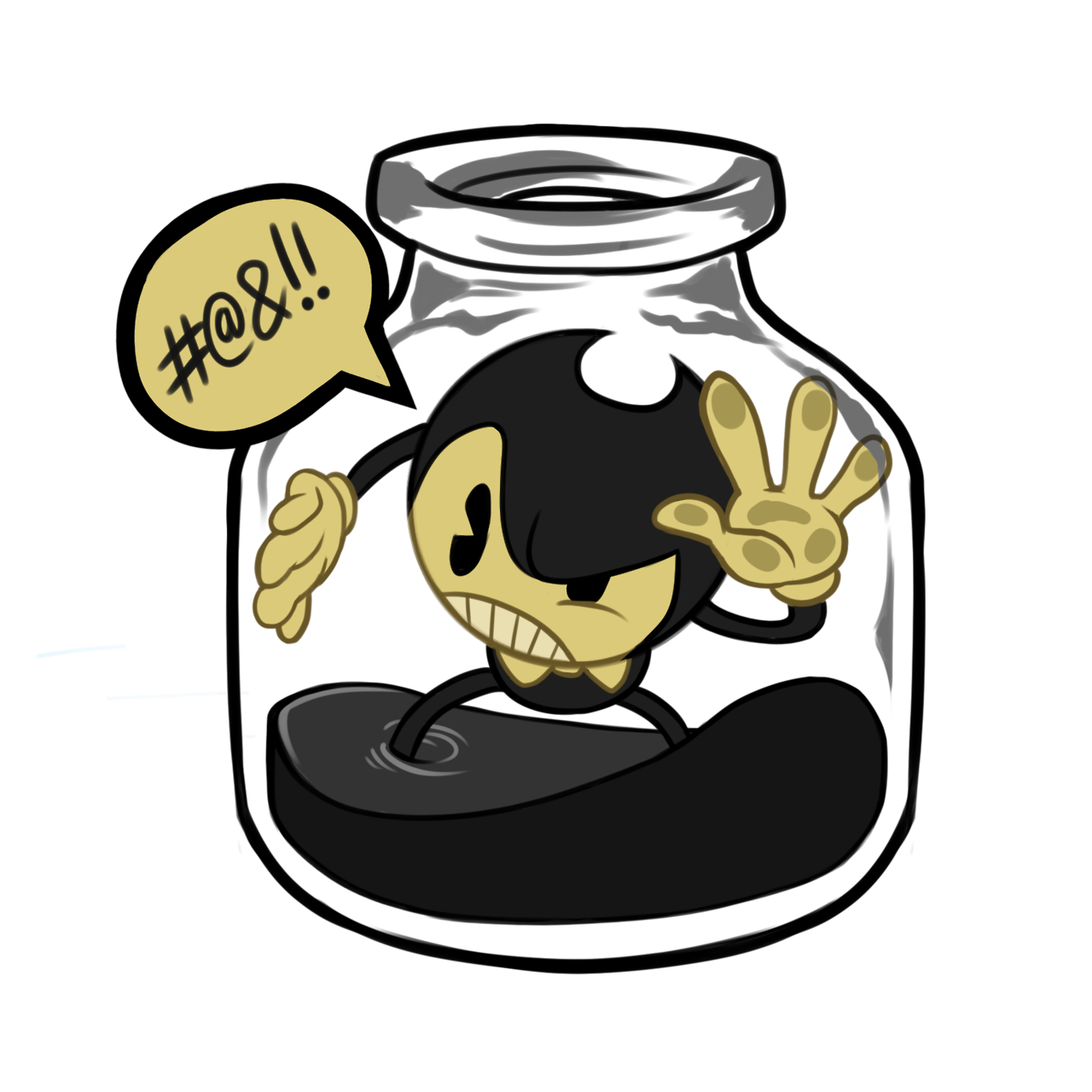 Bendy and the ink. Vampire clipart evil