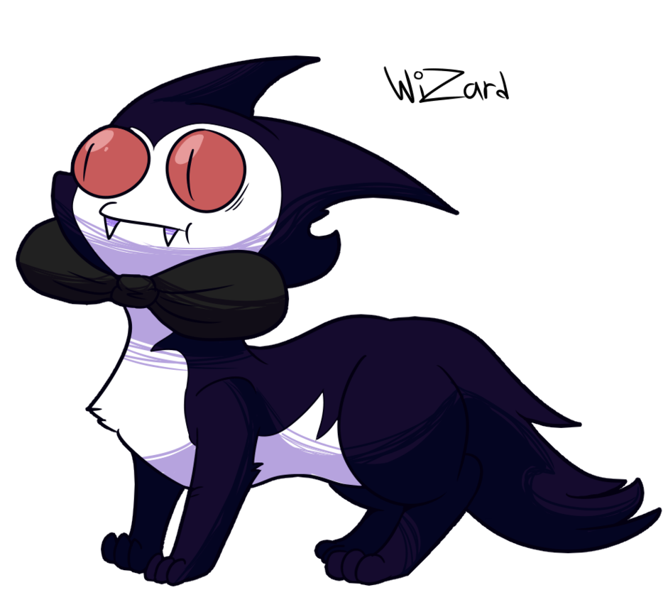 Vampire clipart evil. Desty the ferret by