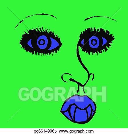 Vampire clipart green. Drawing and blue pop