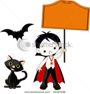 vampire clipart sign