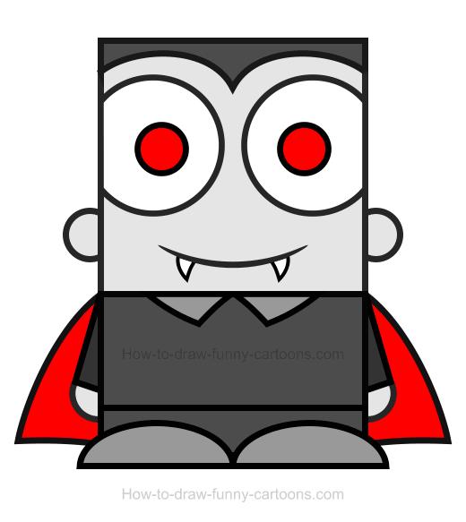 Vampire clipart simple.