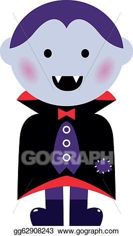 Vector illustration cute isolated. Vampire clipart vampire boy