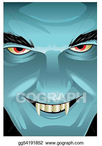 Eps vector stock illustration. Vampire clipart vampire face
