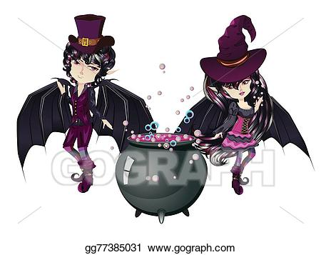 Drawing and gg . Vampire clipart witch