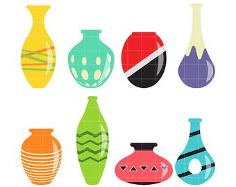 Vase clipart. Clip art etsy flower