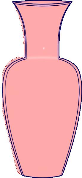 Vase clipart. Pink clip art at