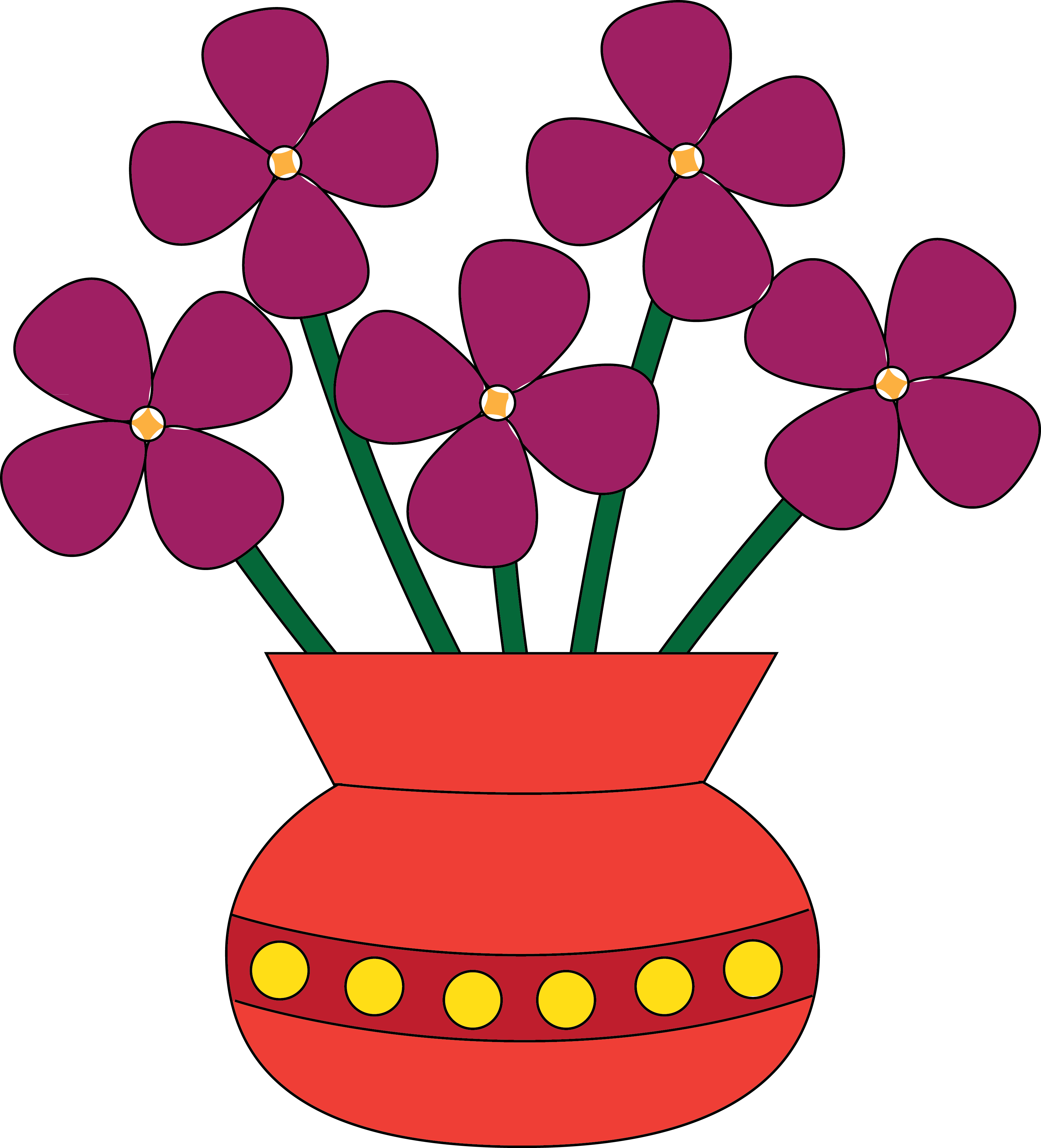 Vase clipart. Panda free images