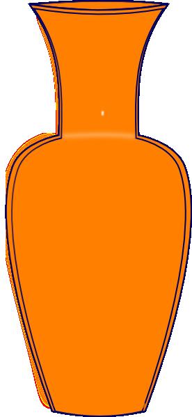 Orange clip art at. Vase clipart