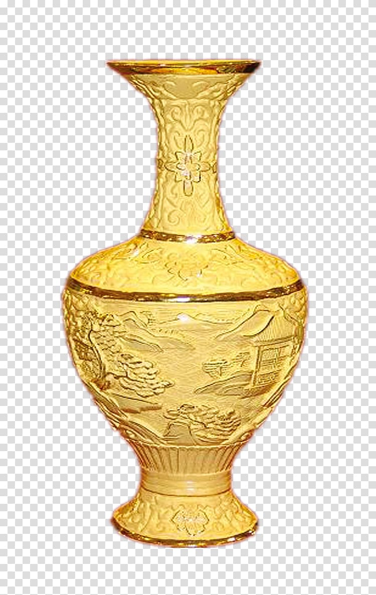 Transparent background png hiclipart. Vase clipart gold