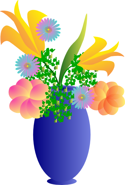 Vase clipart summer flower. A of flowers clip