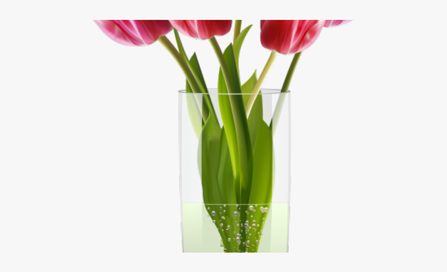Vase clipart tulip png. Flower vases with flowers