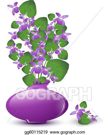 Vase clipart violet. Eps vector bunch of